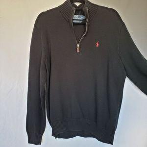 Ralph Lauren polo navy 1/4 zip sweater large mens